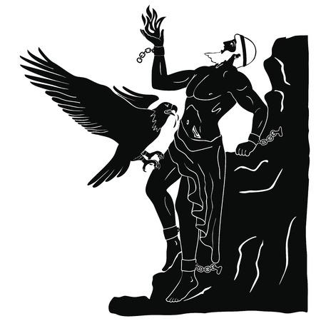 Ancient Greek god Prometheus.