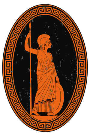 Athena Pallada with a spear.