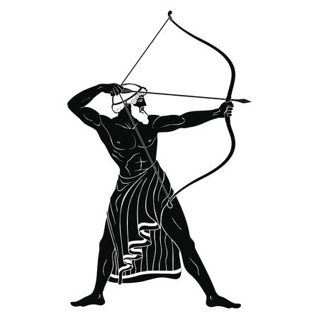 Ancient Greek warrior. Archivio Fotografico - 110834153