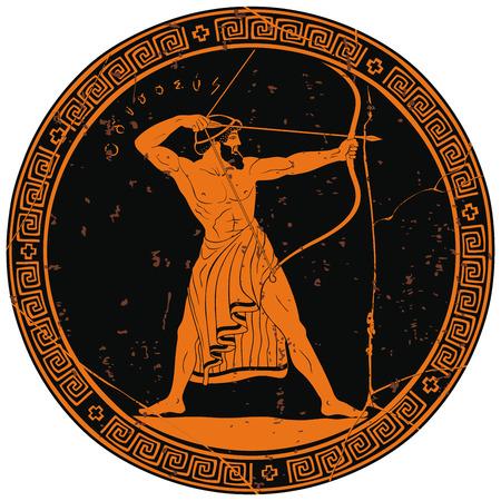 Guerrero griego antiguo.