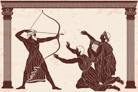 Odyssee und die Freier von Penilope.