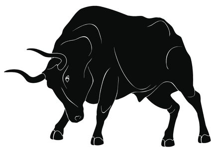 Angry dangerous bull.