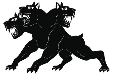 Three-headed dog Cerberus.