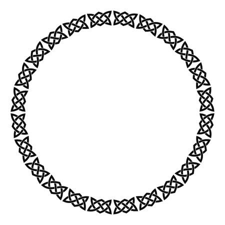 Circular Celtic ornament.