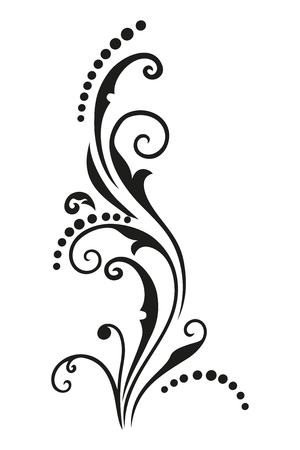 Vintage vector pattern with wavy elements for printing design. Black drawing isolated on white background.