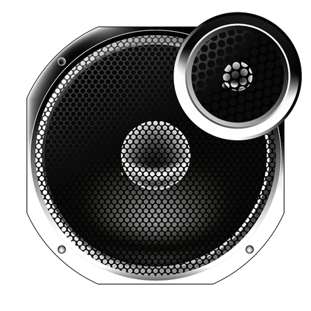 Speaker from the radio.