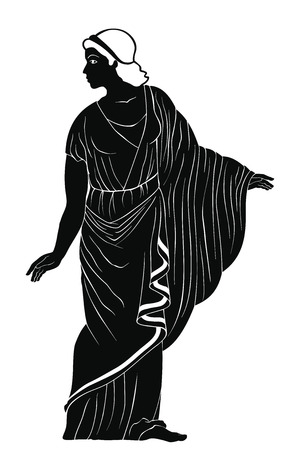 Ancient Greek woman. Stock Illustratie