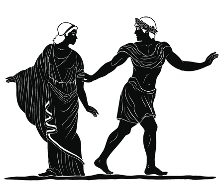 Ancient Greek drawing. Vectores