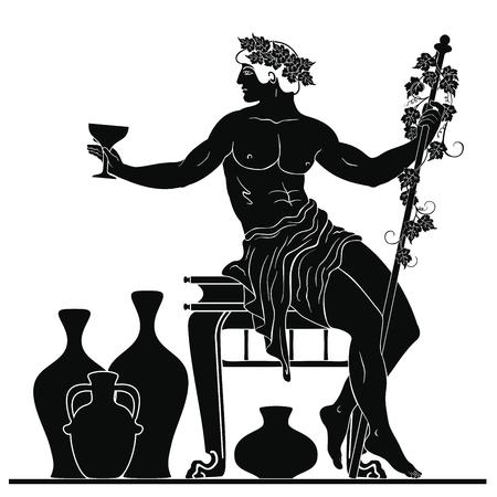 Ancient Greek god Dionysus. Archivio Fotografico - 118957042