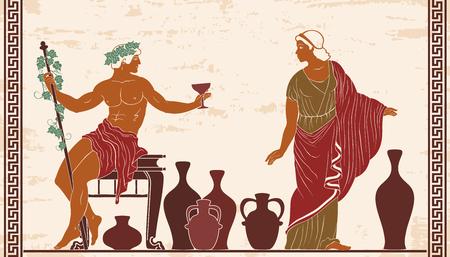 Dionysus and Ariadne. Illustration