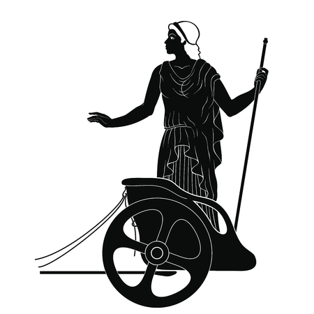 Ancient Greek woman. Illustration