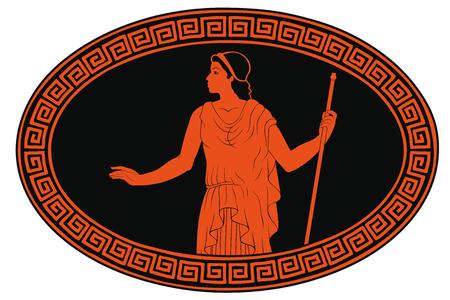 Altgriechische Frau.