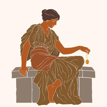 Ancient Greek woman.