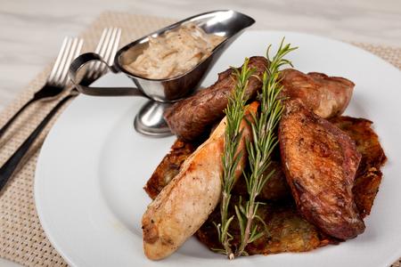 Food in the plate. Reklamní fotografie - 123970950