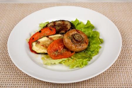Food in the plate. Reklamní fotografie - 123970958
