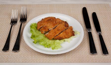 Food in the plate. Reklamní fotografie - 123970934
