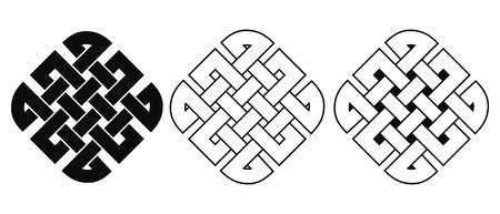 Set of Celtic national ornament interlaced ribbon isolated on white background. Element for graphic design. Reklamní fotografie - 123970912