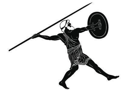 Altgriechischer Krieger.
