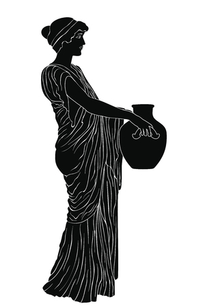 Ancient Greek woman. Vectores