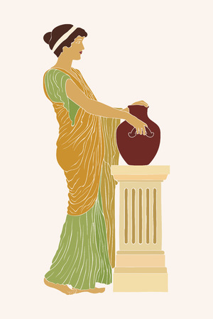 Ancient Greek woman. Illustration