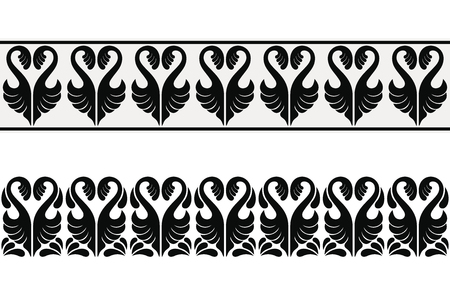 Seamless vector ornament in the Art Nouveau style based on ancient Greek elements.