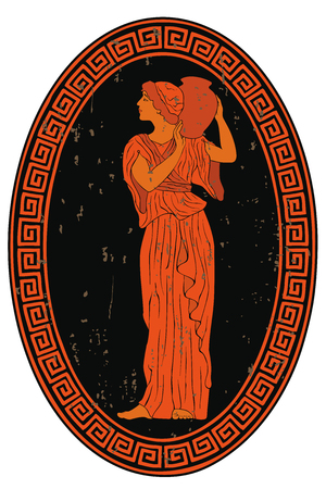 Ancient Greek woman. Vettoriali