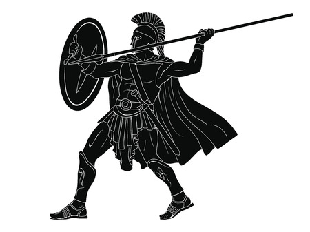 Ancient Roman Warrior. Ilustração Vetorial