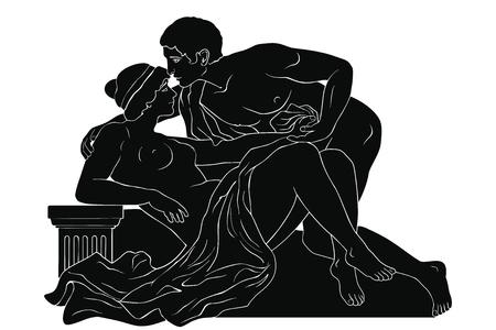 Man and woman. Çizim