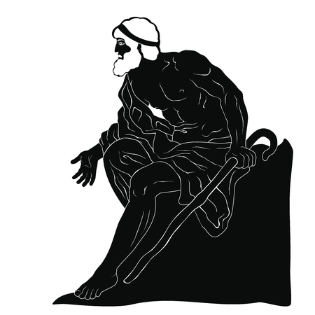 Ancient Greek old man.