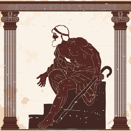 Ancient Greek old man.