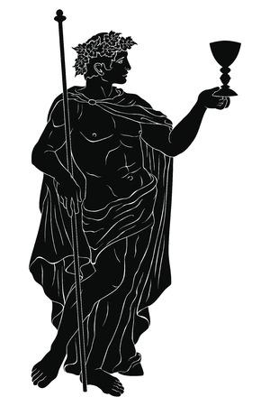 Ancient Greek god Dionysus. Stock Vector - 123970809