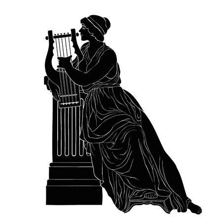 Ancient Greek woman. Ilustrace