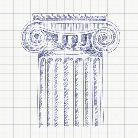 Sketch of the column. Çizim