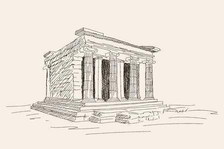 Ancient greek temple.
