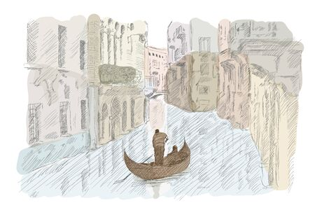 Venetian landscape with a boat.