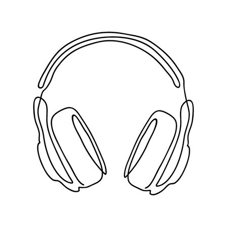 Headphones on a white background. 向量圖像