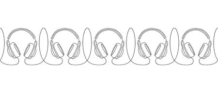 Headphones on a white background.  イラスト・ベクター素材