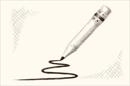 A simple pencil with an eraser.