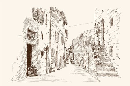 Drawing of the old city.