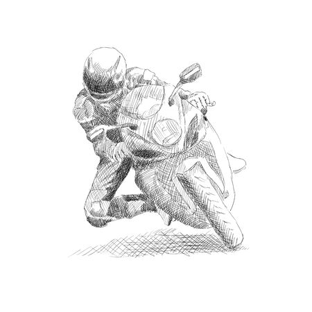 Motorcyclist on a motorcycle.