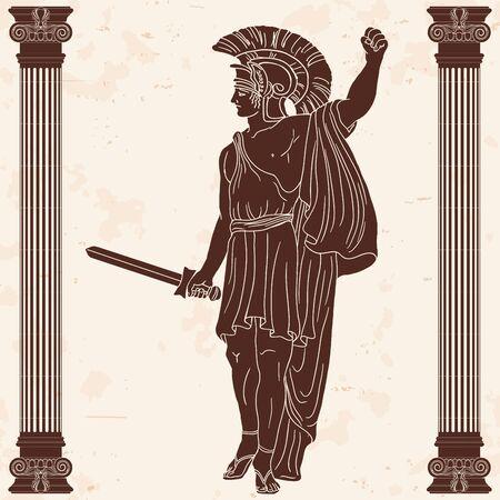 Antico guerriero greco.