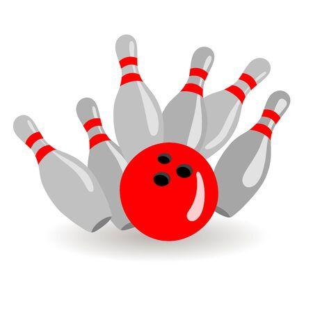 Ball and skittles. 写真素材 - 132681133