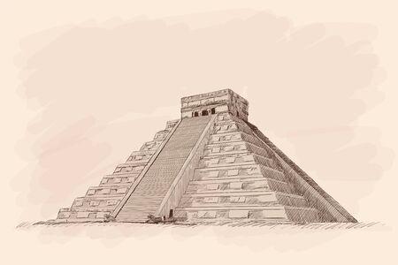 Aztec Stone Pyramid.
