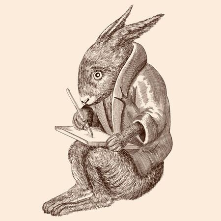Hare with a tablet.