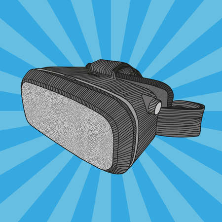 Virtual reality helmet for computer games and entertainment.