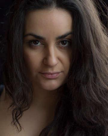 cheekbones: Beautiful Girl (Women, Model) Stock Photo