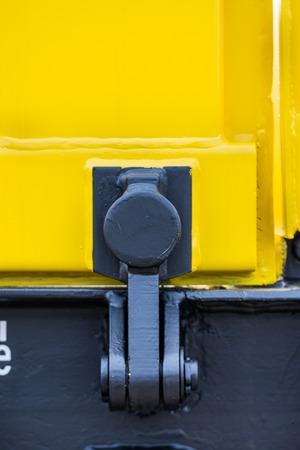 buffers: Detail - Freight cargo train - 4-axled flat wagon Type:Res Model:072-2 - Transvagon AD