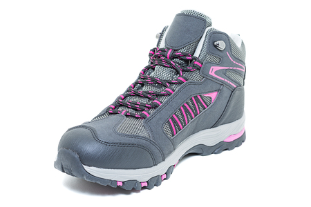 cushioning: Ladies hiking shoes - Walking Tourist ankle boots white isolated