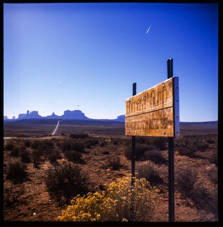 Monument Valley photo taken with medium format Lubitel