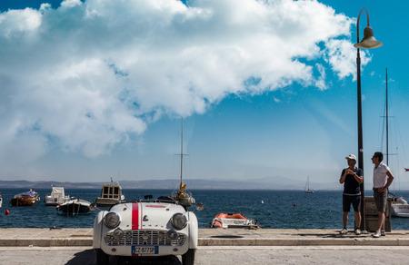 PORTO SANTO STEFANO, ITALY - 23 JUNE 2012: Due Mari Vintage Car And Motorcycle Race